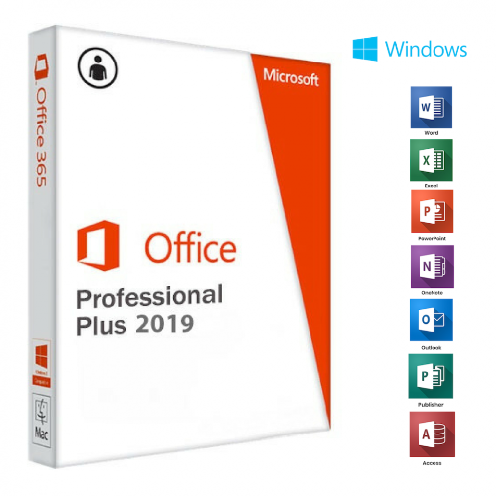 MICROSOFT OFFICE PROFESSIONAL PLUS 2019 - INSTANT DELIVERY